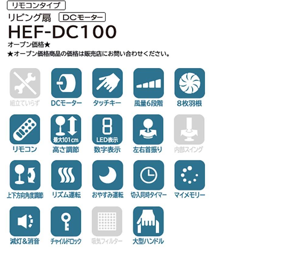 QUẠT ĐIỆN HITACHI HEF-DC100